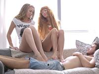 Sex in trei cu doua blonde
